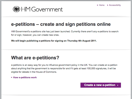 e-petitions